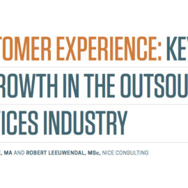 Customer Experience: Key To Growth In The Outsourced Service Industry
