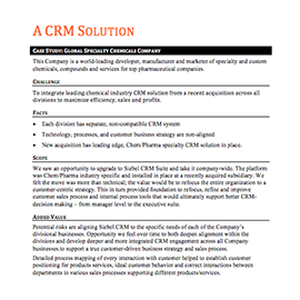 A CRM Solution – Case Study