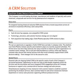A CRM Solution – Case Study