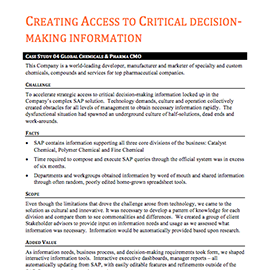Creating Access to Critical Decision-Making Information – Case Study